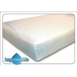 Protection matelas imperméable 140x190 - blanc