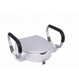 Rehausseur de WC avec accoudoirs - 10 cm