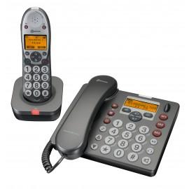 PowerTel 580 combo Amplicom téléphones amplifiés à grosses touches