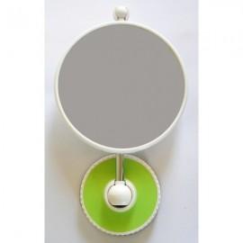 Miroir grossissant télescopique à ventouse X10 - Citron Vert