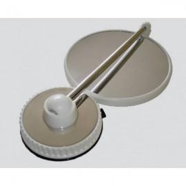 Miroir grossissant télescopique à ventouse X10 - Inox