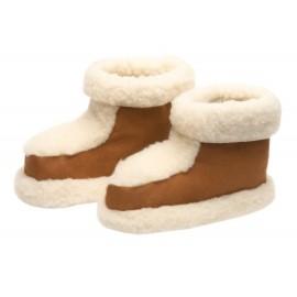 Chaussons en laine de mouton retourné, Taille 39 40