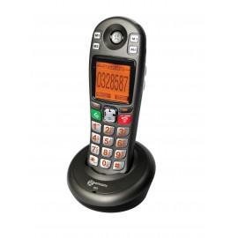 Amplidect 285HS téléphone grosses touches amplifié combiné sup anthracite geemarc