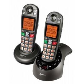 Téléphone Grosses Touches Sans Fil, Mal Voyant, Mal Entendant, Amplifié Geemarc Amplidect 285-2 Sénior Personnes Agées