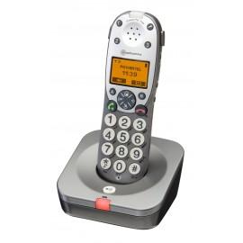 Téléphone Sans Fil Amplifié, Malentendant, Signal lumineux, Grosses Touches PowerTel 700 Amplicom