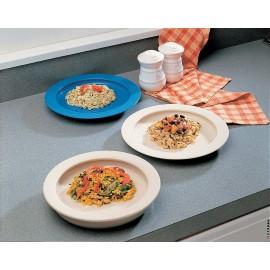 Assiette avec Rebord Intérieur Incurvé 1425, Empêche les aliments de glisser hors de l'assiette