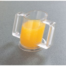 Tasse transparente inclinée à 2 anses - 237 ml