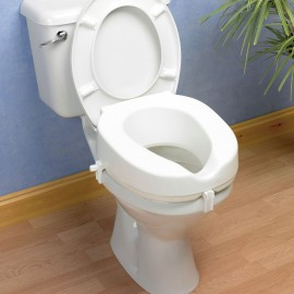 Rehausseur de WC 5 cm, Ouverture ovale découpée, Kinetec AA2122