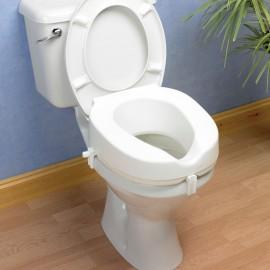 Rehausseur de Toilette 15 cm, Ouverture ovale découpée, Kinetec AA2126