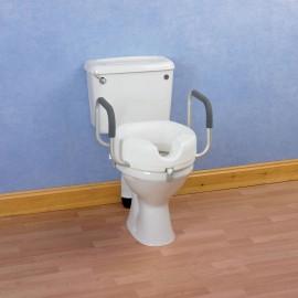 Réhausse WC 10 cm avec Accoudoirs à mousse agrippante Kinetec AA2169
