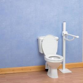 Barre Handicapé Toilettes 55 cm Fixée au sol, Pliante Devon Elite Kinetec 091173533