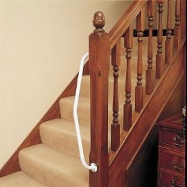 Barre Pour Escalier Droite, Acier Epoxy Blanc 90° Kinetec AA6040R