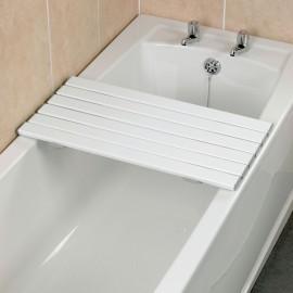 Planche Bain Lattes Plastique Blanc 68,6 cm Savanah Kinetec AA1093