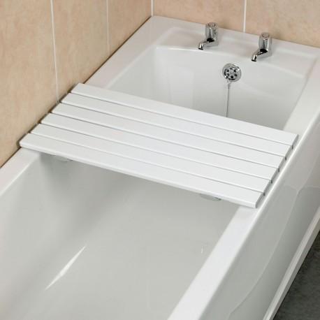 Planche Bains 6 Lattes Plastique Renforcé Blanc 76,2 cm Savanah Kinetec AA1093C