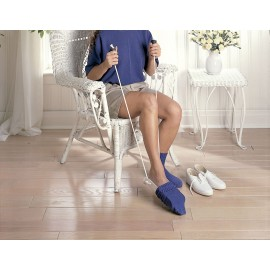 Enfile chaussettes & bas avec poignées en mousse - 2 cordes avec poignées plastique standard