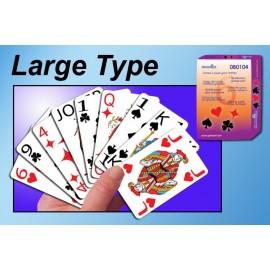 Jeu de cartes à jouer, Gros caractères, Malvoyant