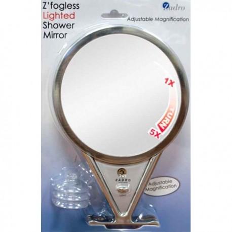 Miroir de Rasage Grossissant x5 Eclairant, Antibuée, LED