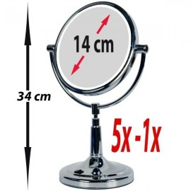 Miroir Grossissant sur Pied X1 X5, Lumineux LED Vanity Miroir