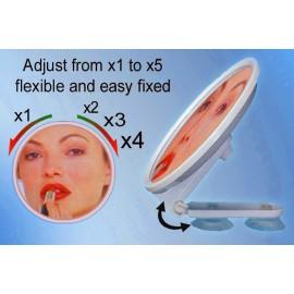 Miroir Grossissant X1 X2 X3 X4 X5 Ventouse