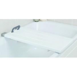 Planche de bain solide et large. Supporte jusqu'à 285 kg.