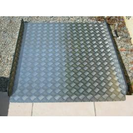 Rampe d'accès Handicapé, Longueur 1m20 Largeur 90 cm, Tole damier aluminium