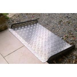 Rampe d'accès aluminium - Long. 50 cm / Larg. int. 77 cm