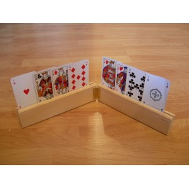Support de cartes double - 2 x 20 cm