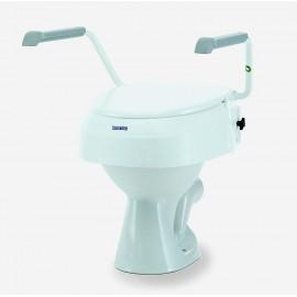 Rehausseur de WC avec Accoudoirs, Rehausse réglable : 6, 10, 15 cm