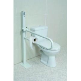 Barre Handicapé Toilettes Pliable, relevable, sur colonne, Fixée au sol