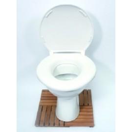 Abattant de WC, Larges dimensions, Poids max. : 380 kg, Rehausse de 2 cm