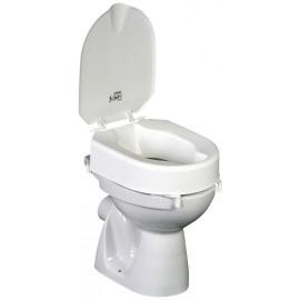 Rehausseur de WC 10 cm avec Couvercle Hi-Loo blanc, S'adapte à tous les WC
