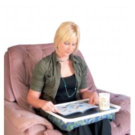 Plateau de fauteuil antidérapant. Coussin pour les genoux. Pour écrire, lire, manger.