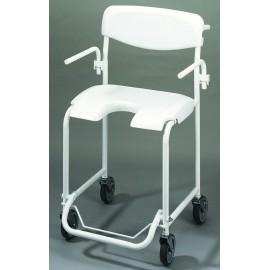 Chaise de Douche à Roulettes, Fauteuil Roulant de douche pour Personnes agées
