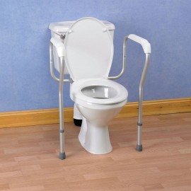 Cadre de Toilette, Barre d'Appui WC, Accoudoirs rembourrés