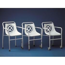 Chaise pour Douche Harrogate standard, Siège de Bain en plastique incurvé et perforé