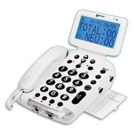 Téléphone Geemarc BDP400 pour Malentendant et Malvoyant, Grosses touches, Ecran LCD