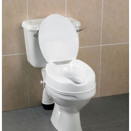 Rehausseur de Toilettes WC 10 cm avec Couvercle, Abattant Savanah AA2114L