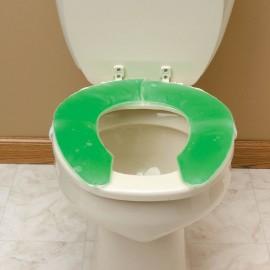 Coussin de WC en gel avec découpe frontale, Assise Toilettes, Personnes âgées