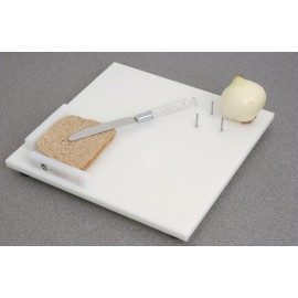 Planche à découper en polypropylène, 2 hauts rebords pour bloquer une tranche de pain, Personnes handicapées