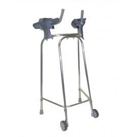 Déambulateur 2 roues avec supports d'avant-bras