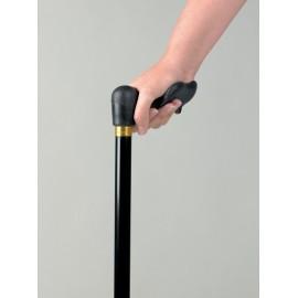 Canne Comfy grip main droite 74 - 95,5 cm - Uni noir