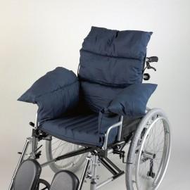 éf. : 553668 Parapluie pour fauteuil roulant. Protège de la pluie et du soleil une personne assise sur un fauteuil r