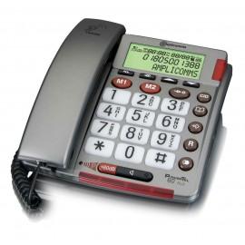 Téléphone pour Malvoyant et Malentendant PowerTel 60 Plus AMPLICOMMS