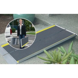 Rampe d'Accès pour Handicapés Portable et Pliante longueur 91,5 cm