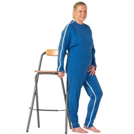 Grenouillère Médicalisée Adultes Taille 42/44 Blanc, Manches courtes, jambes courtes