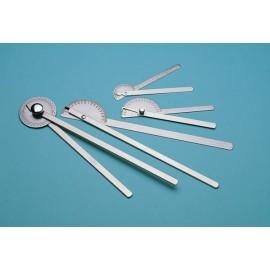 Goniomètre médical, 35cm, Acier Inoxydable, précision 1°, Bouton moleté