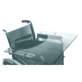 Table pour Fauteuil Roulant, Tablette Rabattable XXL