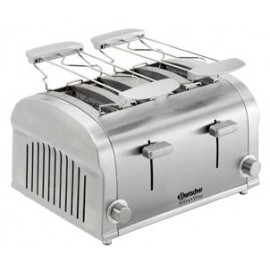 Grille pain 4 tranches 1400W Tout inox, FIGUINE