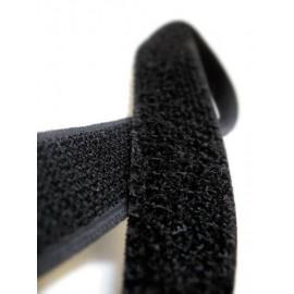 Ruban auto-adhésif à coudre Noir - Crochet - 5 cm x 25 m