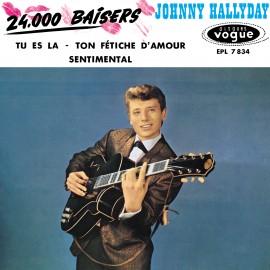 Johny Hallyday, 24 000 baisers, musiques des années 60, variété française